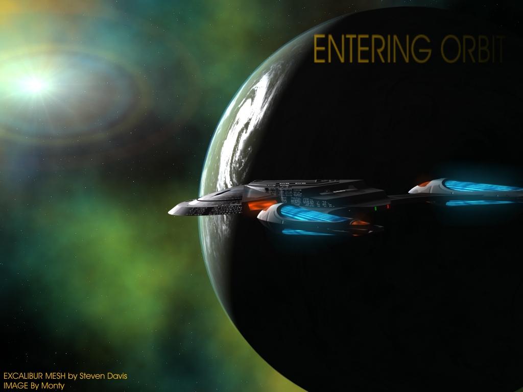 Excalibur in orbit